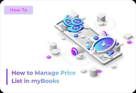 Manage Price list in mybooks